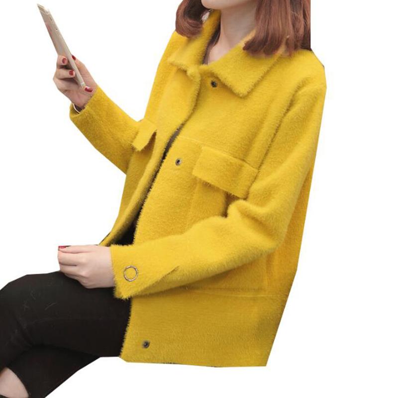 korean Cardigan Sweater Autumn 2018 Fashion Knitted Women jacket Long sleeve Casual Red Black Coat Winter Clothing Female Tops
