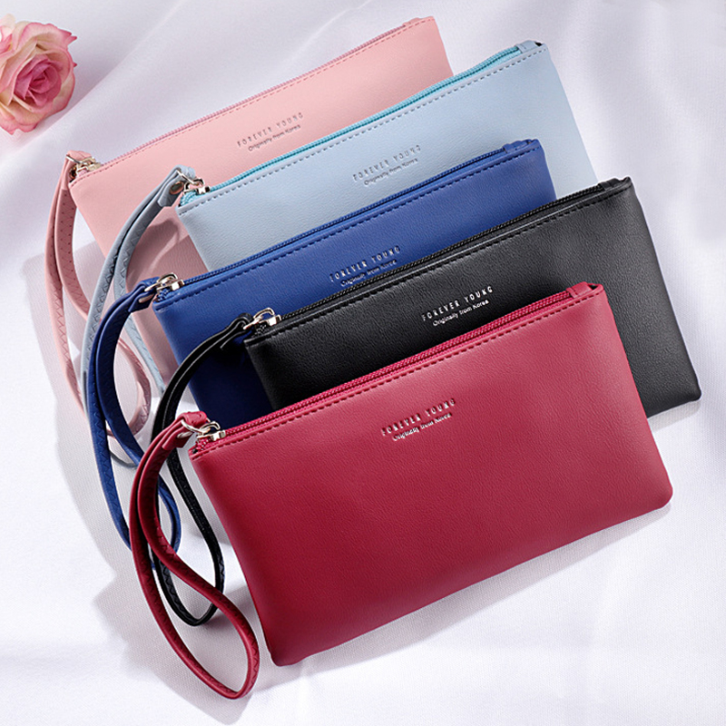 Thin Wallet Card-Holder Hand-Bag Coin-Purse Clutch Long Fashion Zipper Women