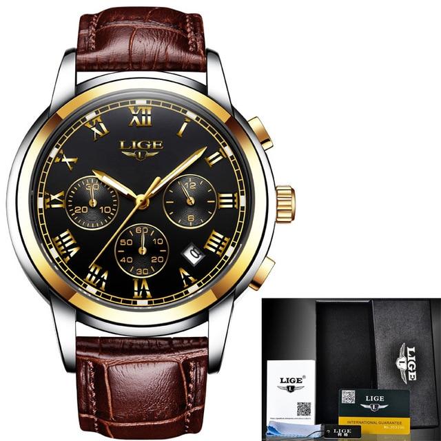 L Gold black