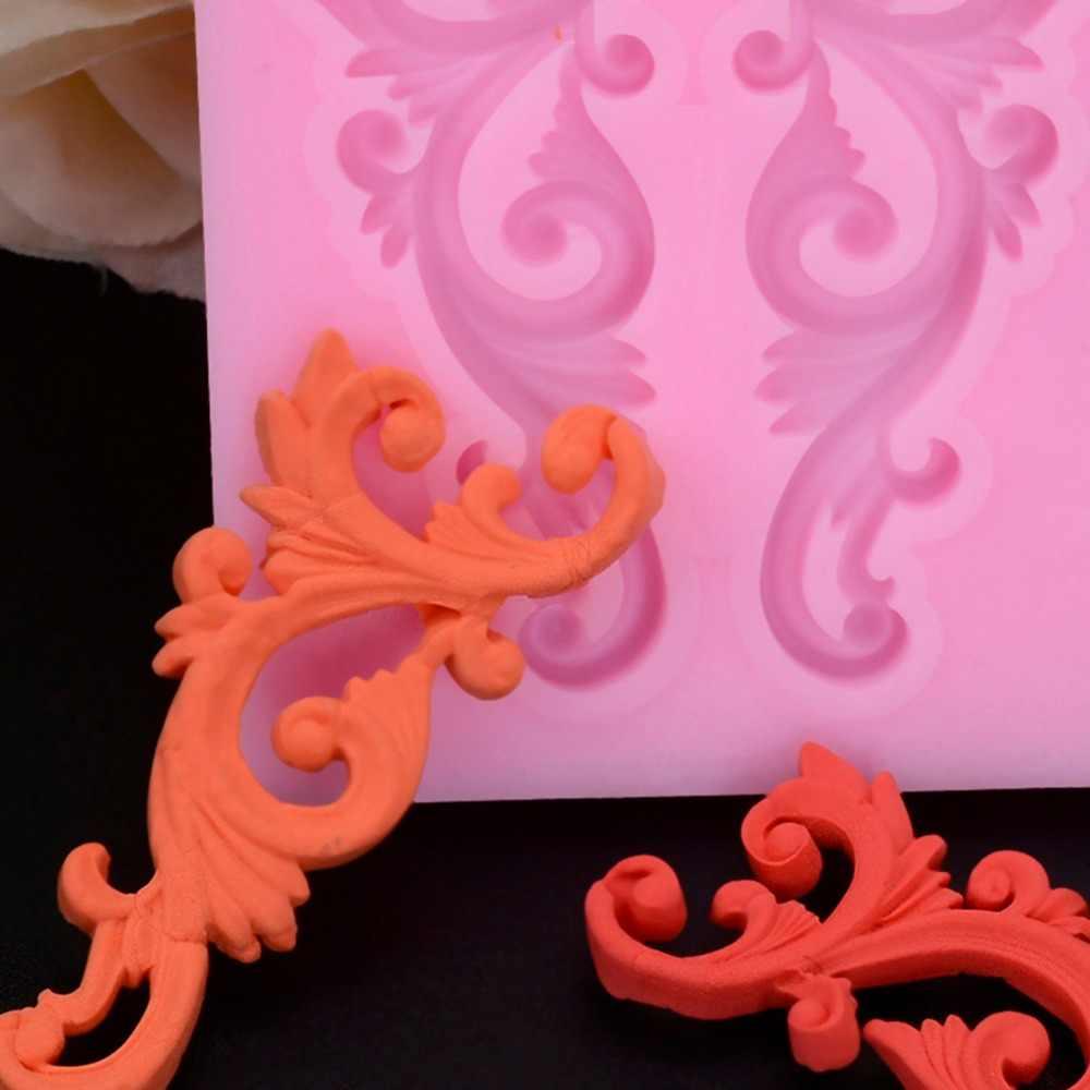 قالب من السيليكون أدوات تزيين الكعك الخبز قالب المعجنات زهرة الكَرْم أشكال سيليكون تصميم قالب الكعكة اكسسوارات صواني للفرن