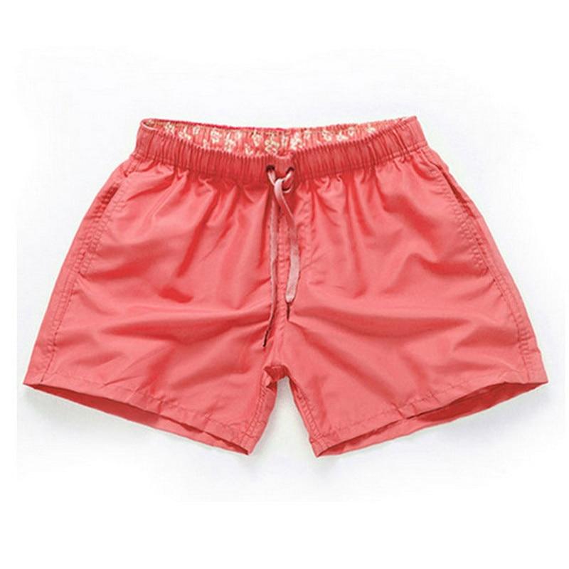 Pink-Men Beach Sport Swim Trunks Surf Swimwear Quick Drying Briefs