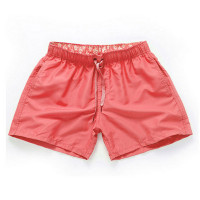 Pink-Men Beach Sport Swim Trunks Surf Swimwear Quick Drying Briefs