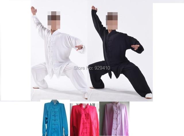 4d5072d0ce136 Unisexe tai chi costumes uniformes d arts martiaux Shaolin vêtements en  coton kung fu vêtements