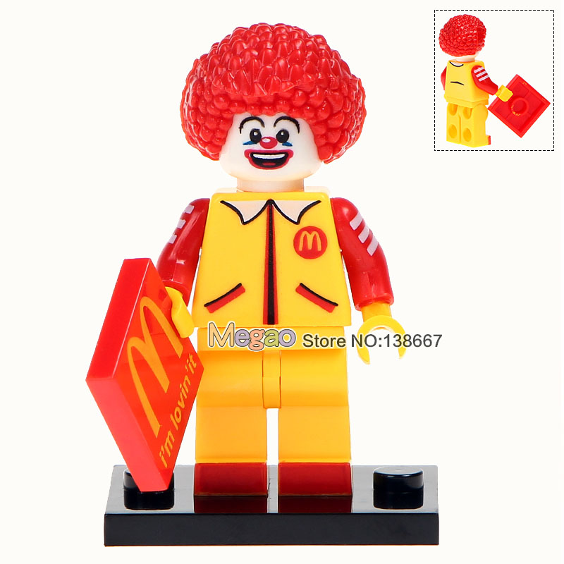 Single Sale Wm230a Ronald Red Round Hair Super Heroes Building Blocks Action Figures Kids Gifts Toys Drop Shipping Crease-Resistance Blocks