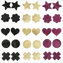 10pairs/lot Lace womens Nipple Covers Disposable Breast Petals Flower Sexy Tape Stick on Bra Pad Pastie for Women