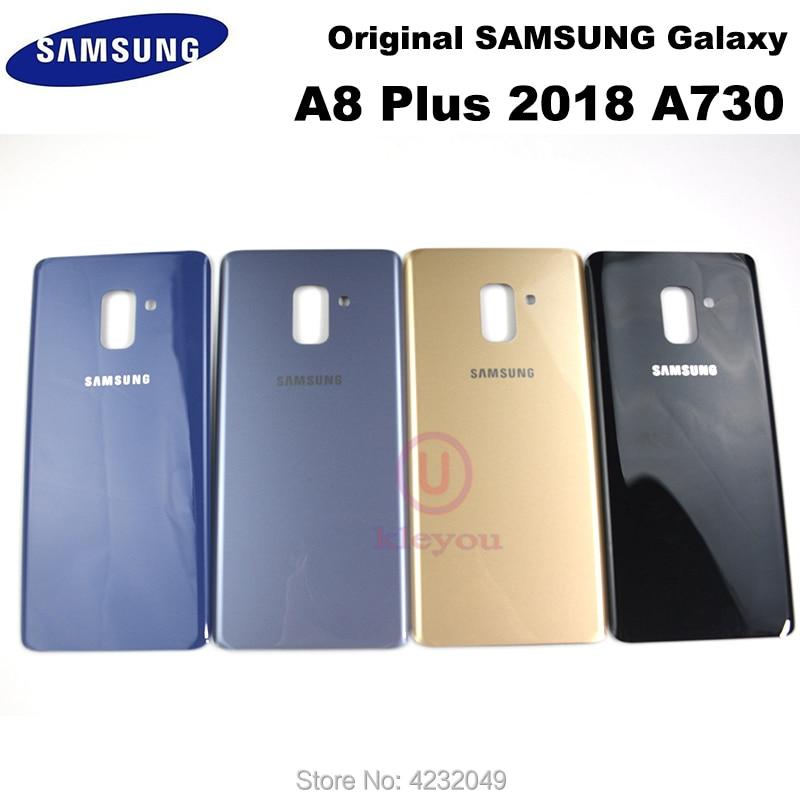 10pcs Samsung Galaxy A8+ A8 plus 2018 A730F A730 A730FD Back Battery Glass Cover Rear Door Housing panel Case