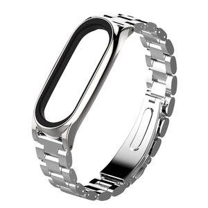 Image 3 - Mi jobs Metall Strap Für Xiao mi mi Band 3 Strap Schraubenlose Edelstahl Armband Armband Ersetzen Zubehör Für mi band 3