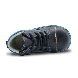 Image 5 - Apakowa İlkbahar sonbahar erkek çocuk çocuk ayakkabı Pu deri ayak bileği yürümeye başlayan çocuk botları çocuk moda Zip Martin çizmeler katı ayakkabı