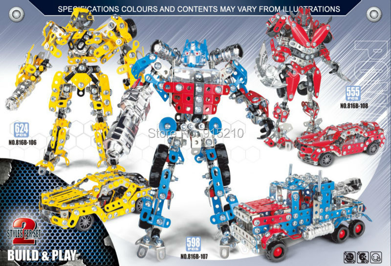ФОТО Iron Commander Scale Model Bumblebee Optimus Prime Dinosaur Robot Metal Assembly metal building kits educational toys