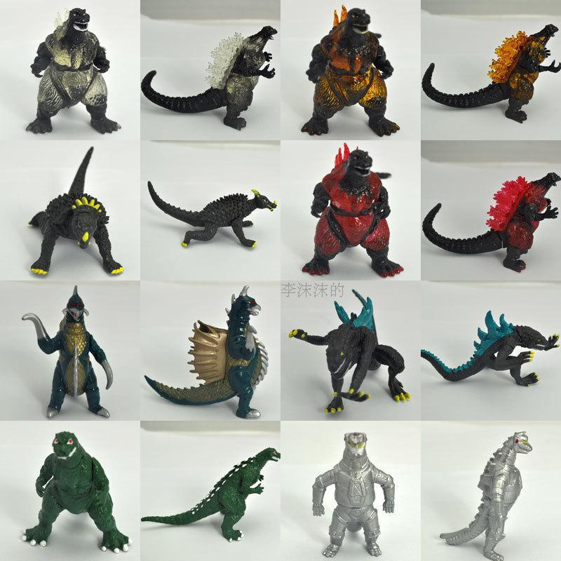 3'' <font><b>Godzilla</b></font> Dinosaur monster <font><b>figure</b></font> 8pcs/lot <font><b>classic</b></font> toys vivid doll anime cartoon toy for children gifts free shipping