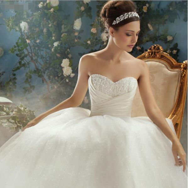 Cinderella Fairy Tale Princess Wedding Dress Sweetheart Glitter ...