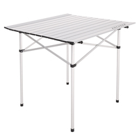 69 5 X 68cm Size Aluminum Alloy Structure Folding Table For Outdoor Dinner Picnic Party Garden