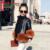 2017 Nueva Otoño Invierno de Cuello Alto Niñas Parka de Algodón Acolchado de Moda Chaqueta de Cuero de Imitación Decoración de Piel Ropa de Las Muchachas 3 Colores