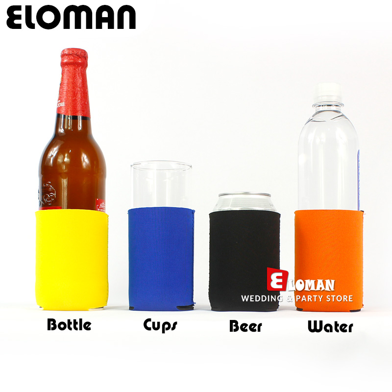 2pcs Party Beer Can Cooler Eloman Wedding Favor Decoration Custum