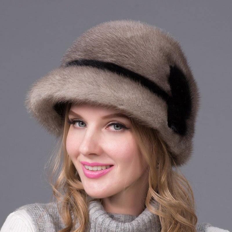 2018 натуральная норковая меховая шапка зимняя импорт действительно полная меховая шапка с цветочным узором русская Высококачественная Рос