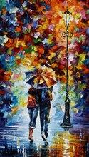 Imagem de Impressão da Arte Da lona Pintura de Paisagem Noturna Rua Abstrato Pintura A Óleo Da Lona Pintura Retrato Da Arte Da Parede para Home Decor