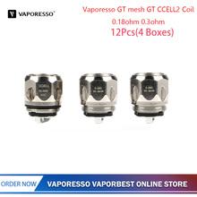 12 sztuk oryginalny Vaporesso GT mesh GT CCELL2 cewka 0 18ohm 0 3ohm akcesoria do elektronicznego papierosa dla kaskady pojemnik dla niemowląt zbiornik do e-papierosa tanie tanio Vaporesso GT mesh GT CCELL2 Coil Cascade One Plus Cascade One DS NC 0 3ohm(35-40W) 0 18ohm(50-90W)