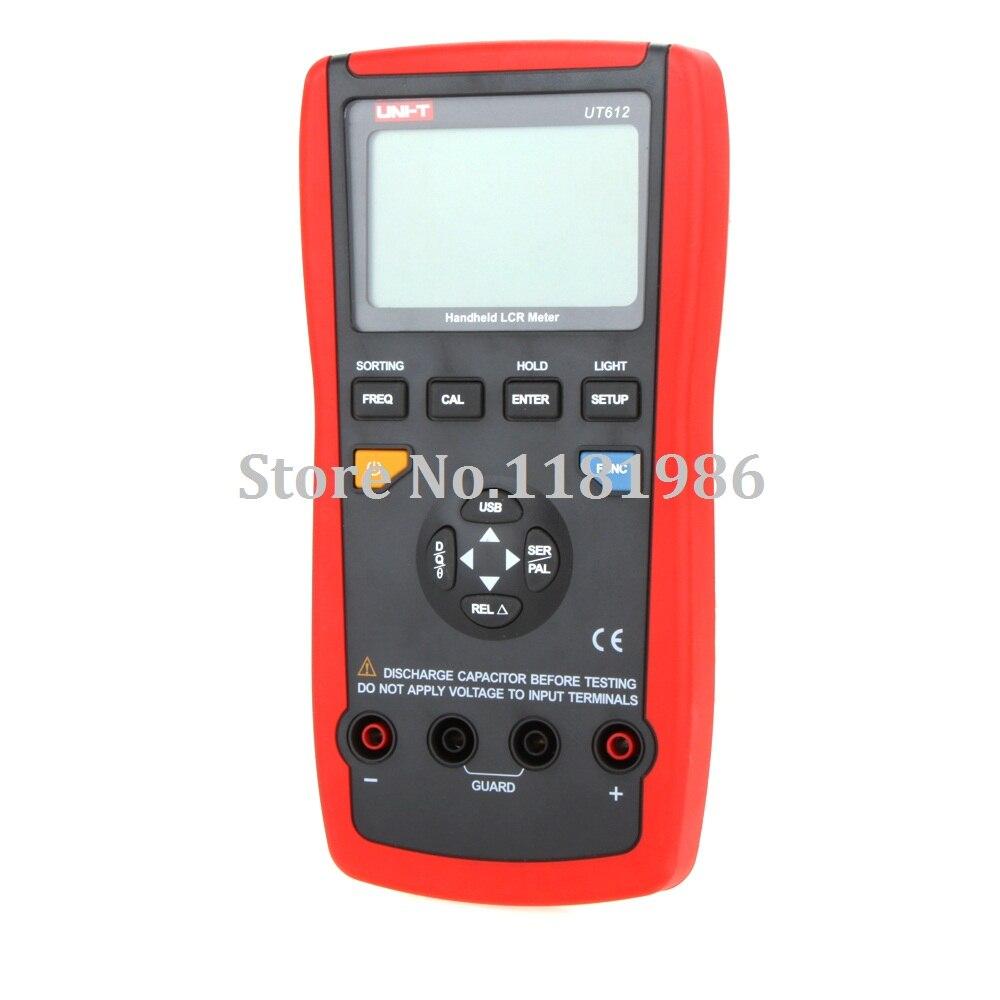 UNI-T UT612 USB Interface 20000 compte w/Inductance fréquence Test écart rapport mesure multimètre Multimetro LCR mètres