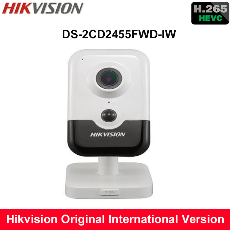 Hikvision New H.265 Mini wireless IP Camera DS-2CD2455FWD-IW replace DS-2CD2442FWD-IW 5MP IR Cube Camera built in microphone фразеологизмы обиходной жизни mini cd