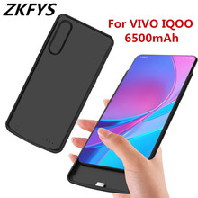 ZKFYS 6500mAh Large Capacity Fast Charger Power Bank Case For VIVO IQOO Ultra Thin Portable High Quality