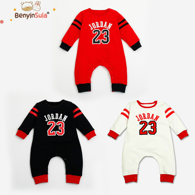a88e63e6c5d Jordan autumn baby romper sporty baby climbing clothes baby clothes long  sleeve Romper for baby girl and boy