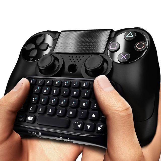 Mini Bluetooth kablosuz klavye için PS4 Joystick Chatpad için Sony Playstation 4 için PS4 denetleyici