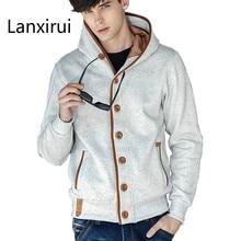 Brand Men S Fashion Solid Hoodies Cotton Cardigan Sweatshirt High Quality Male Hooded Sportswear Overcoat