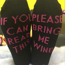 NEW Men Women Funny Socks words printed socks If You can read this Bring Me a Beer Cotton casual socks unisex Lovers socks(China)