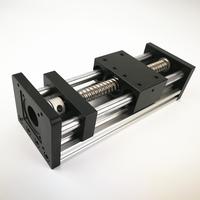 Линейный слайд стол модуль шаговый двигатель GGP двойной оптической оси шариковинтовой Электрический цифровой Управление суппортом