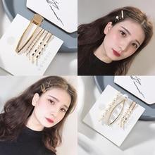 Get more info on the 3pcs Metal Hair Clip Elegant Pearl Hairpin Barrettes Korean Style Hairgrip Headwear for Women Girls Hair Clip Hair Accessories