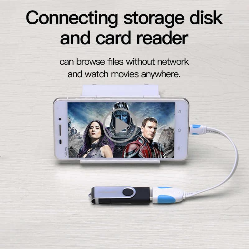 Vention OTG Kabel Micro USB untuk USB 2.0 Adaptor OTG Konverter untuk Android Samsung Galaxy Xiaomi Tablet PC untuk Flash mouse Keyboard