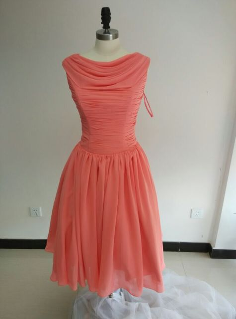 Summer Dress 1950s 50s Vintage Bridesmaid Dresses Ball Gown Scoop