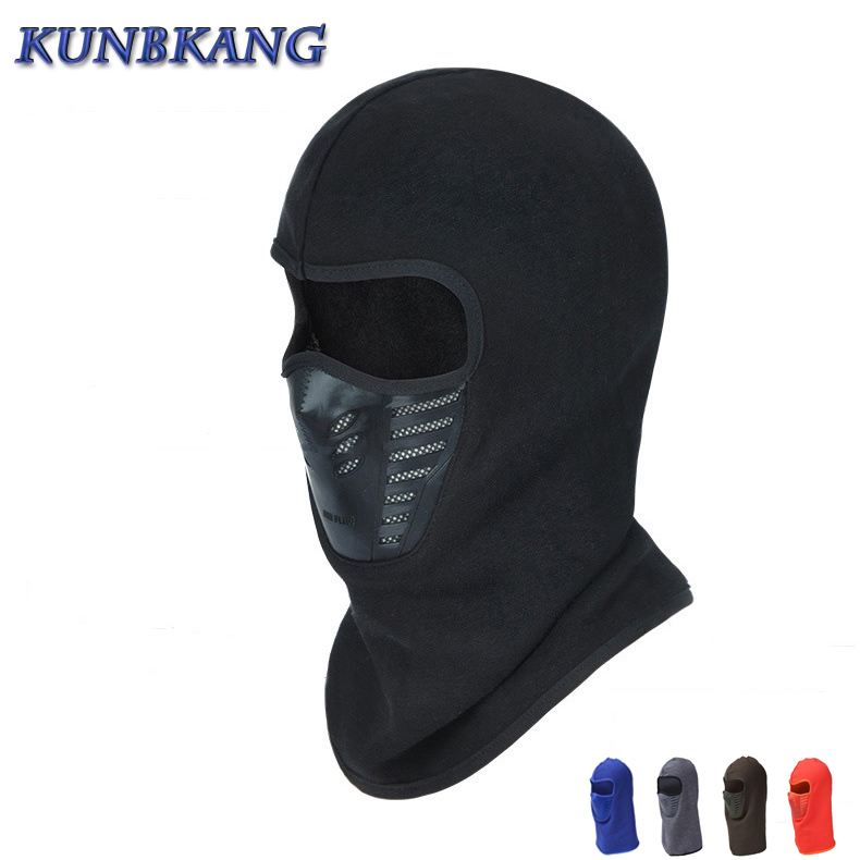 Winter Warm Hat Motorcycle Windproof Face Mask Hat Neck Helmet Beanies For Men Women Bicycle Thermal Fleece Balaclava Hat