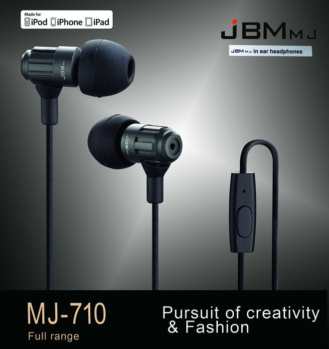 OriginalJBM-MJ710  3.5mm In-ear stereo Earphones headband headsets Super Bass sound with mic for mobile phone iphone xiaomi