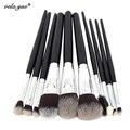 10 pcs Profissionais Pincéis de Maquiagem Conjunto de Alta Qualidade Ferramentas de Maquiagem Kit Premium Full Function