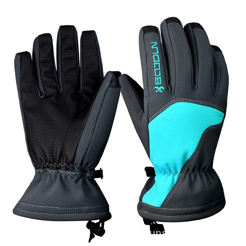 Neige tête Ski gants imperméable-30C degrés hiver chaud Snowboard gants hommes femmes Motocross coupe-vent cyclisme moto gants
