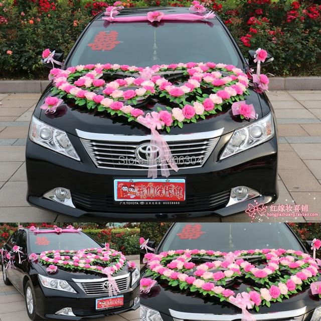 Free Shipping By Emsnew Stylewedding Car Decoration Set Heart