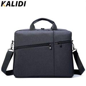 KALIDI 15 بوصة حقيبة أعمال يد الرجال حقيبة كمبيوتر محمول الكتف حقيبة ساعي ل Mackbook 13.3-15.6 بوصة دفتر حقيبة لابتوب
