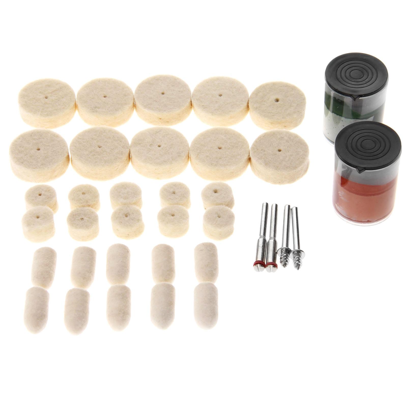 4 Stücke Shanks Für Dremel Dreh Werkzeug Dremel Dateien 50 Stücke Wolle Filz Polieren Polieren Rad Schleifen Polieren Pad