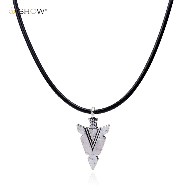 silver women simple arrow chain pendant iwisb necklace products charm for