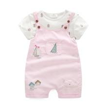 Одежда для мамы и дочки, розовый хлопковый комбинезон для девочек, комплект из 2 предметов: комбинезон + штаны, детская верхняя одежда, 2019