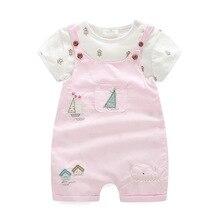 2019 bonito nova mãe bebê menina roupas de algodão rosa crianças grils macacão 2 pçs + calças crianças outwear conjuntos