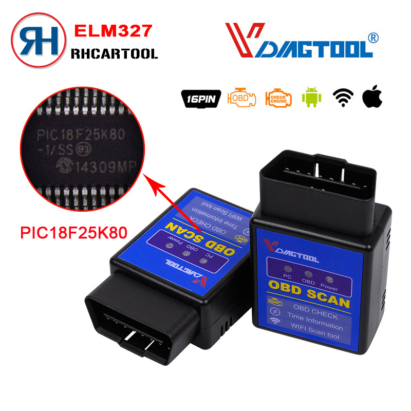 vdiagtool elm327 wifi obd2 diagnostic tool elm 327 wifi obdii protocol scanner wireless for both. Black Bedroom Furniture Sets. Home Design Ideas