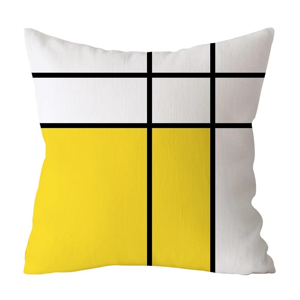 HTB1oEruXECF3KVjSZJnq6znHFXai Polyester Geometric Cushion Yellow Pineapple Pillow Decorative Cushion for Sofa DIY Printed Pillow Seat Chair Cushion