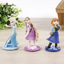 3pcs/set Snow Queen Freezing Action Figures Toys Anna Elsa Princess PVC Collection Toys for children Cake Decoration Gift