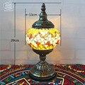 Vintage Böhmen Stil Türkische Romantische Schreibtischlampe Mittelmeer Handgefertigten Glas Tischlampe Für Schlafzimmer Café-Bar Shop Nacht