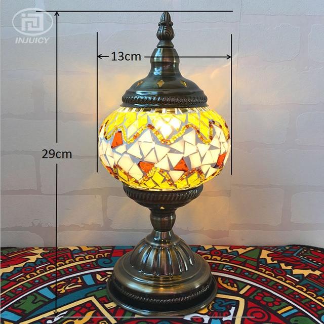 Vintage bohemia style turkish romantic desk lamp mediterranean vintage bohemia style turkish romantic desk lamp mediterranean handcrafted glass table lamp for bedroom cafe bar aloadofball Gallery