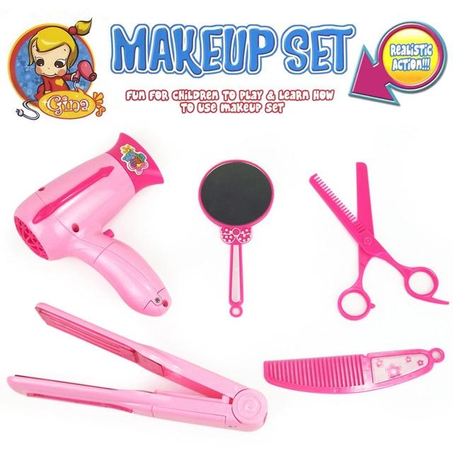 5pcs/set Dressing Table Kids Pretend Playset Makeup Set Hairdressing Make  Up Kids Simulation Toys