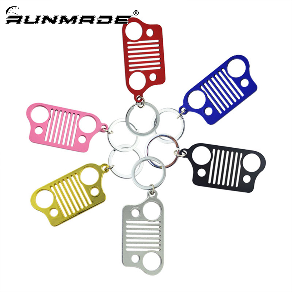 runmade Metal Grill Key Chain KeyChain For Jeep Grill Key Ring CJ JK TJ YJ XJ ...