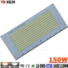 Dissipador de calor de alumínio 15000-16500lm do pwb 150x5730mm do diodo emissor de luz da luz de 10p 240 w smd 110 com placa do pwb do projector da fonte para a luz exterior diy